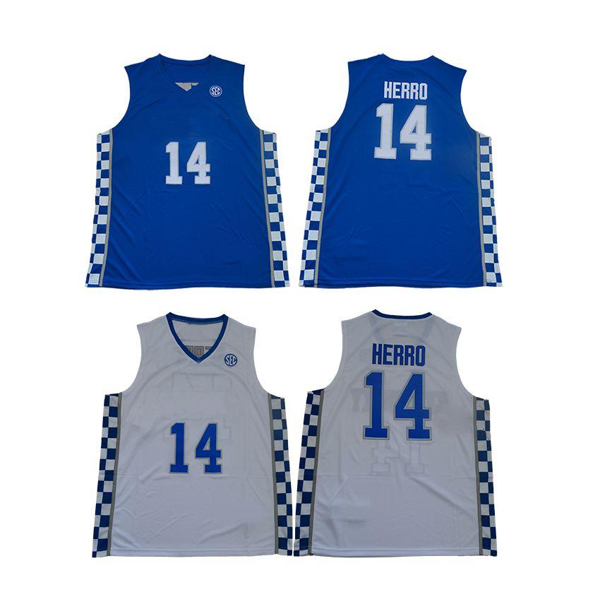 pretty nice 8f446 041b4 Free Shipping-Kentucky #14 Herro Blue/White Jersey