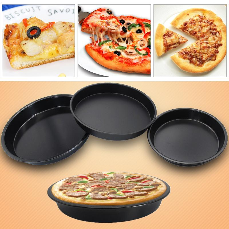 6/7/8/9/10 inch Pizza Plate Round Dish Pizza Pan Tray Food Grade Carbon Steel Non-stick Mold Baking Tool Baking Mould Pan DBC VT0874