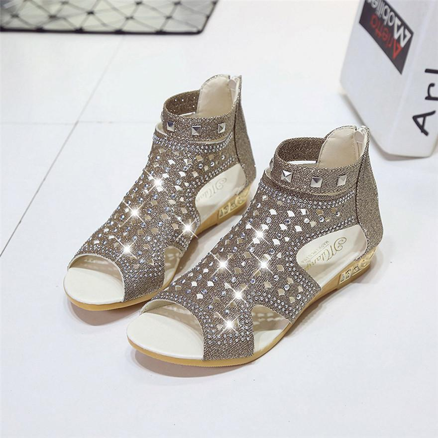 580695aeecf Boys Girls 2018 Spring Summer Ladies Women Wedge Sandals Fashion Fish Mouth  Hollow Roma Shoes Drop Shipping MAY 16 Jack Rogers Sandals White Wedges  From ...