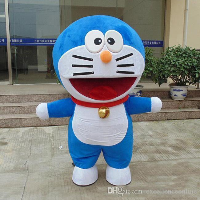 2019 factory sale hot Big Head Mechanical Cat of Doraemon Mascot Costume Halloween Fancy Dress