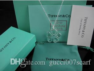 20pcs lot tiffanys925 High quality 925 silver Love Pendant Necklace with Chain Necklaces for Women Free shipping