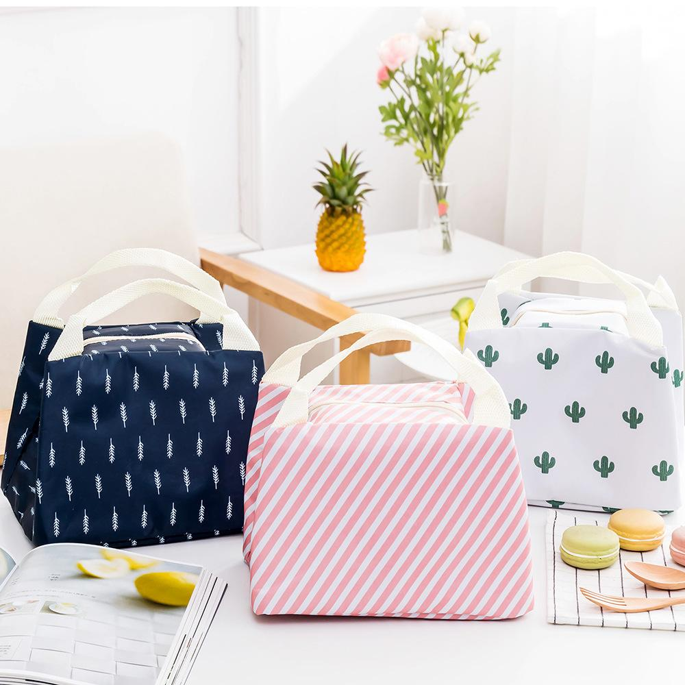Flamingo Korean Version Of The Ms. Insulated Bag Portable Convenience Lunch Box Insulation Package Oxford Cloth Lunch Bag