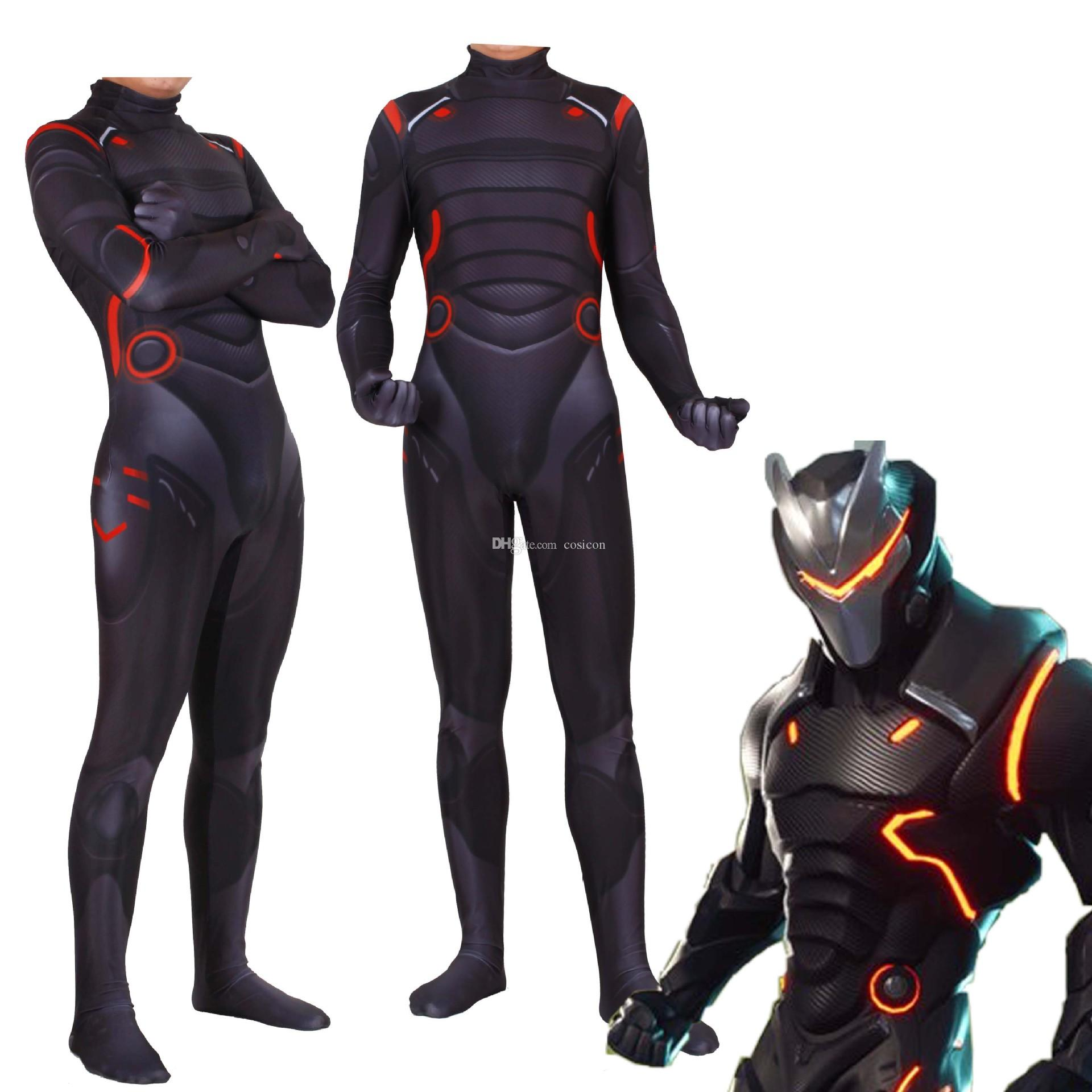 Erwachsene Kinder Heißes Spiel Fortnite Omega Cosplay Body Zentai Kostüm Omega Haut Jumpsuit Halloween Cosplay Kostüm