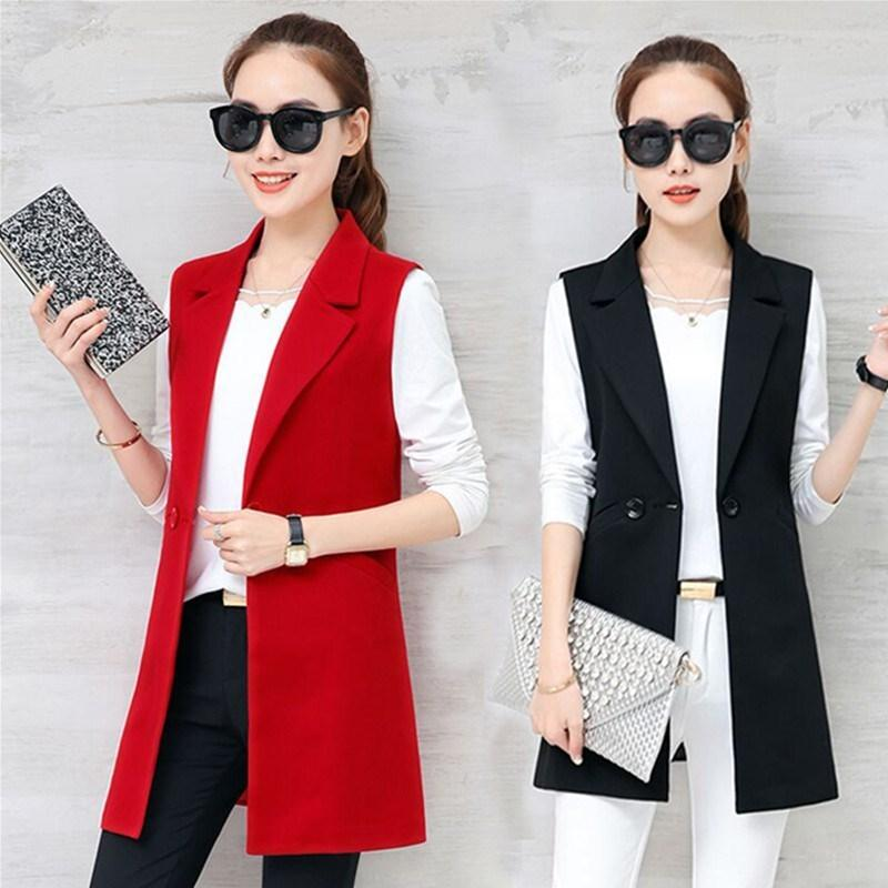 Long Styles Gray Black Single Button Ladies Blazers Women 2019 Spring Autumn Women Suit Jacket Blazer Femme Office Tops Coats