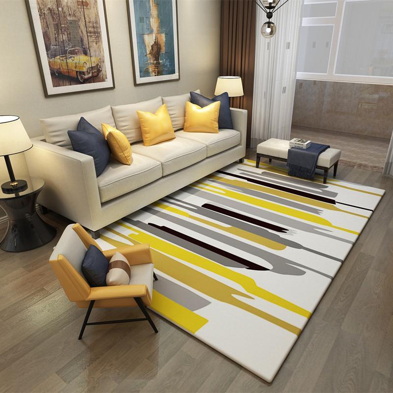 140X200CM Europe Large Area Carpets Rugs Living Room Carpet Suede Mats  Geometric Rectangle Carpet For Bedroom Decoration