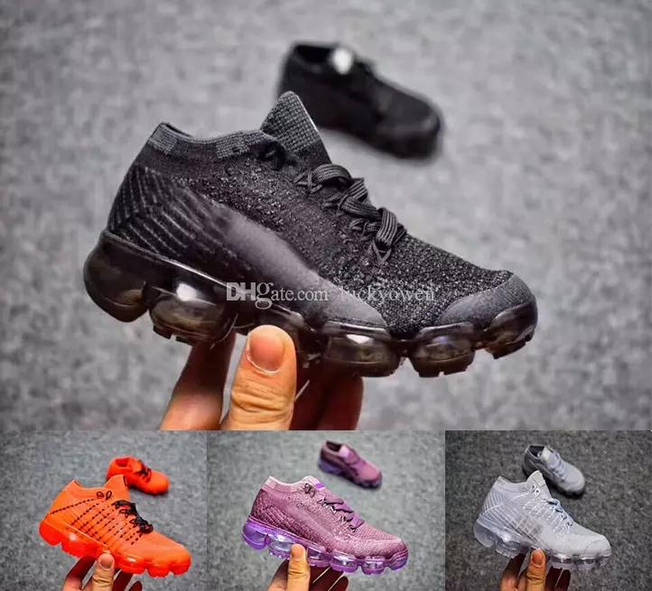 sale retailer d3626 c5bd7 Großhandel Nike Air Max Airmax Vapormax 2018 Baby Kind Air Knitting VM  Portable Kinder Laufschuhe Kinder 2018 Kissen Flair Sportschuhe Jungen  Mädchen ...