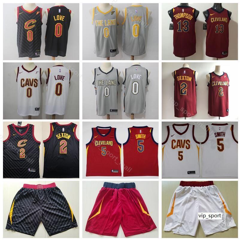 innovative design 621a2 4daa7 Cleveland Basketball Cavaliers Kevin Love Jersey Short Collin Sexton Jr  Smith Tristan Thompson The Land Edition City Shirts Uniform
