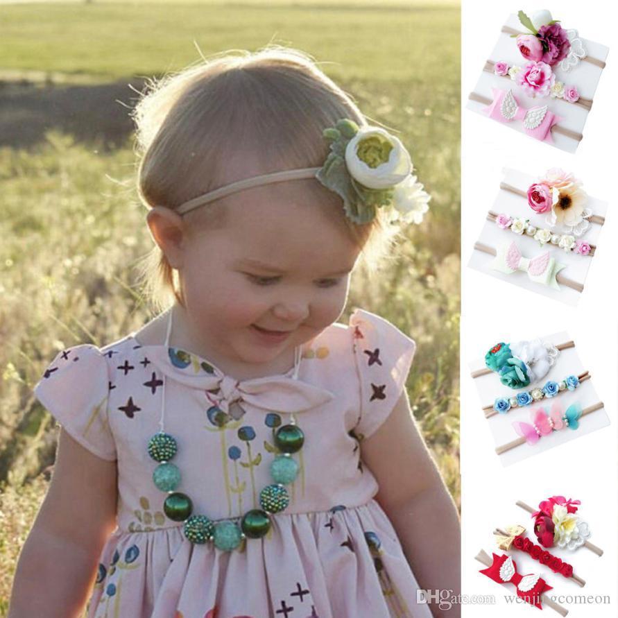 Kids Girl Baby Toddler Flower Headband Hair Band Headwear Maquiagem  Infantil Newborn Photography Accessories Retro Infant Hair Accessories  Boutique Pretty ... e8cdb4037742