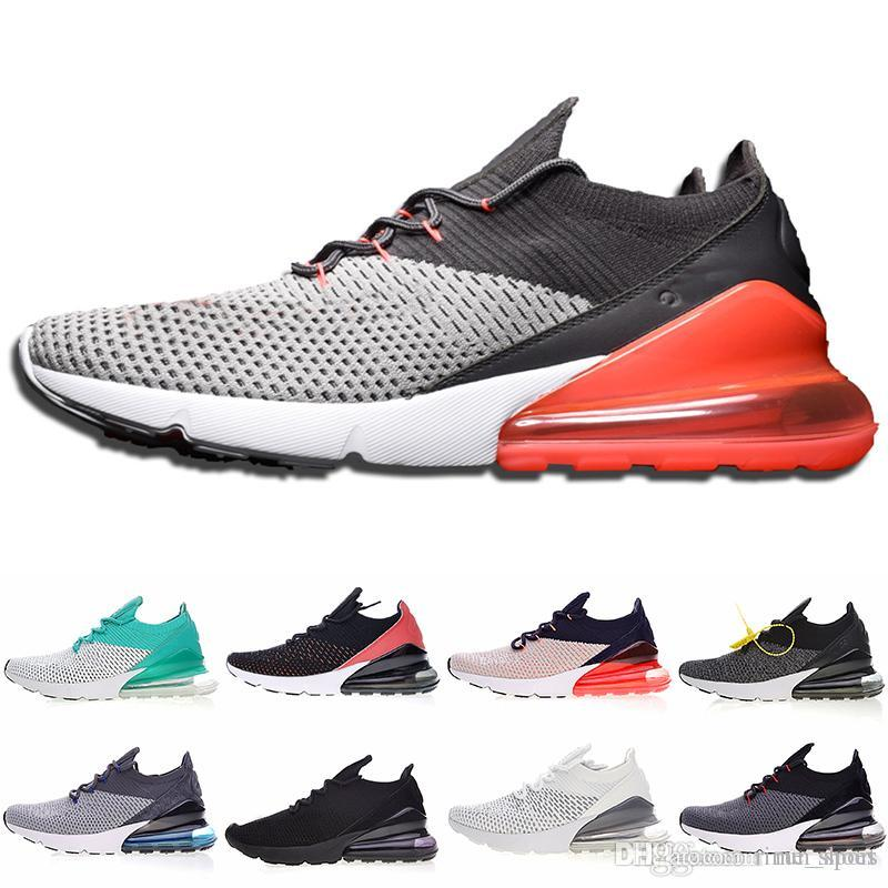 f9c8426dbd2eae 2019 270 Flying Half Palm Air Cushion Men 27C Knitting Sneakers Yellow Tag Sneakers  Women 270s Running Shoes Drop Shipping 270 Designer Shoes Running Shoes ...
