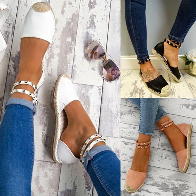 2018 Frauen Sandalen Mode Sommer Schuhe Frau Faux Wildleder Flache Sandalen Casual Schuhe Frau Sandalen Zapatos Mujer Größe 35-43 Frauen Sandalen Frauen Schuhe