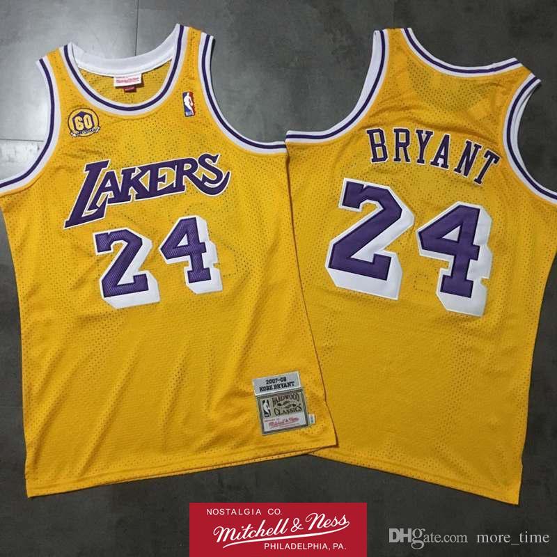 pretty nice 57ac8 2084b Retro Kobe Bryant 2007-08 60th Swingman Jersey Los Angeles Laker Retro  Basketball Jersey Mitchell & Ness Hardwoods Classics HWC Jersey