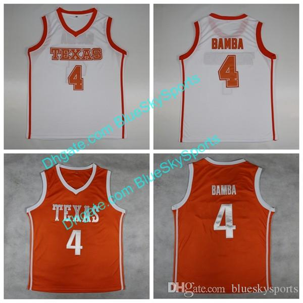 buy online 37cbd 9a7eb Men s NCAA Texas Longhorns #4 Mohamed Mo Bamba White Orange College  Basketball Jersey Stitched Free Shipping Size S-XXL