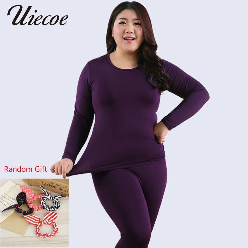 16677e822720 2019 Uiecoe New Autumn Winter Fleece Warm Women Long Johns Large Size Slim Soft  Thermal Underwear Women Plus Size Xxl 6xlQ190401 From Shen05, ...