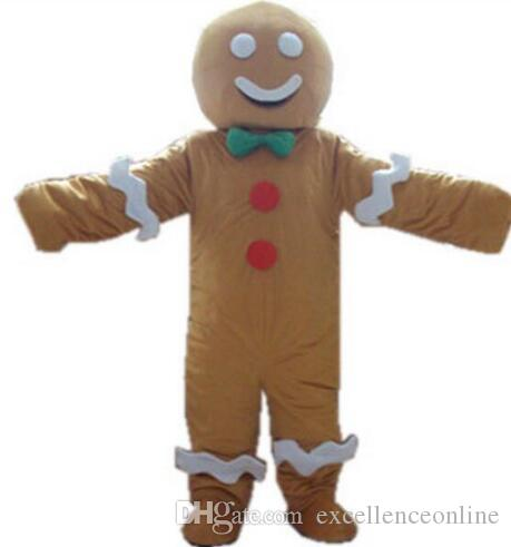 cookies baby Cartoon Character Costume gingerbread man mascot mascot for Christmas fancy dress
