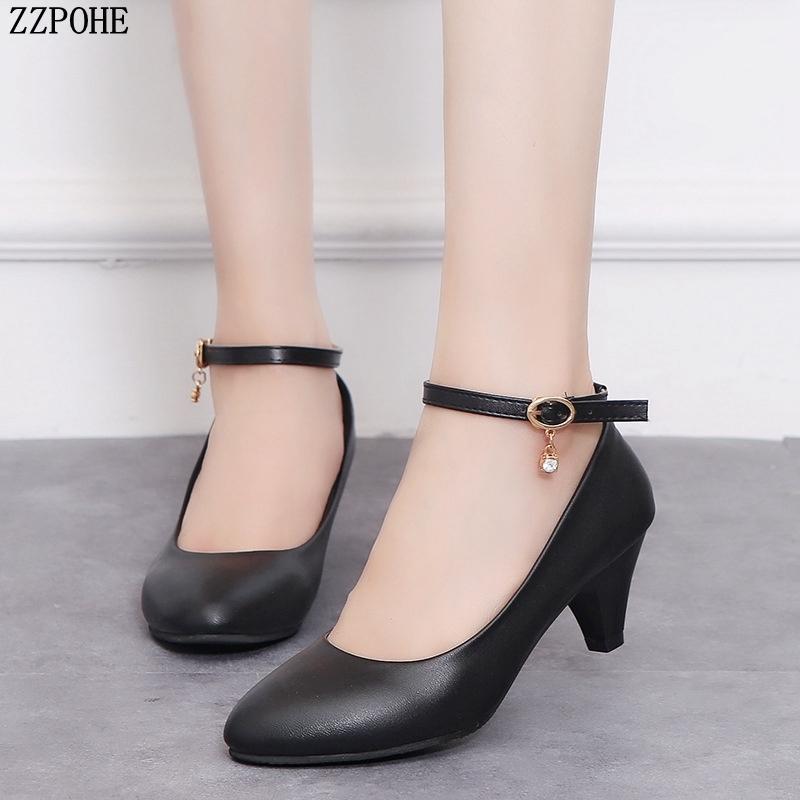 ac45b2f9 Compre 2019 Primavera Otoño Nueva Moda Tacones Altos Mujeres Bombas Zapatos  De Vestir Dama Zapatos De Oficina Zapatos De Boda Para Mujer Zapatos De Boda  ...