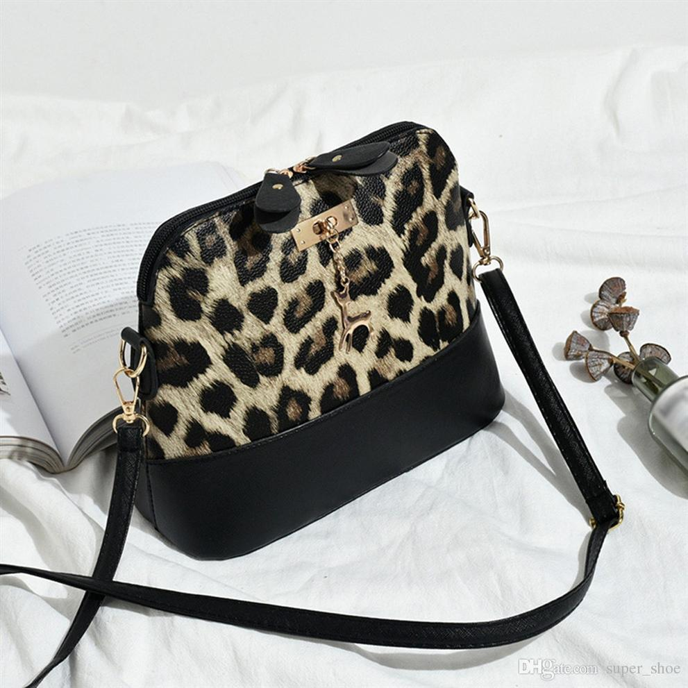9486382e0499 Xiniu Brand New Women Leopard Print Crossbody Bag Purse Money Bag Fawn  Pendant Shell Shoulder Bags Messenger bolsas feminina #160514