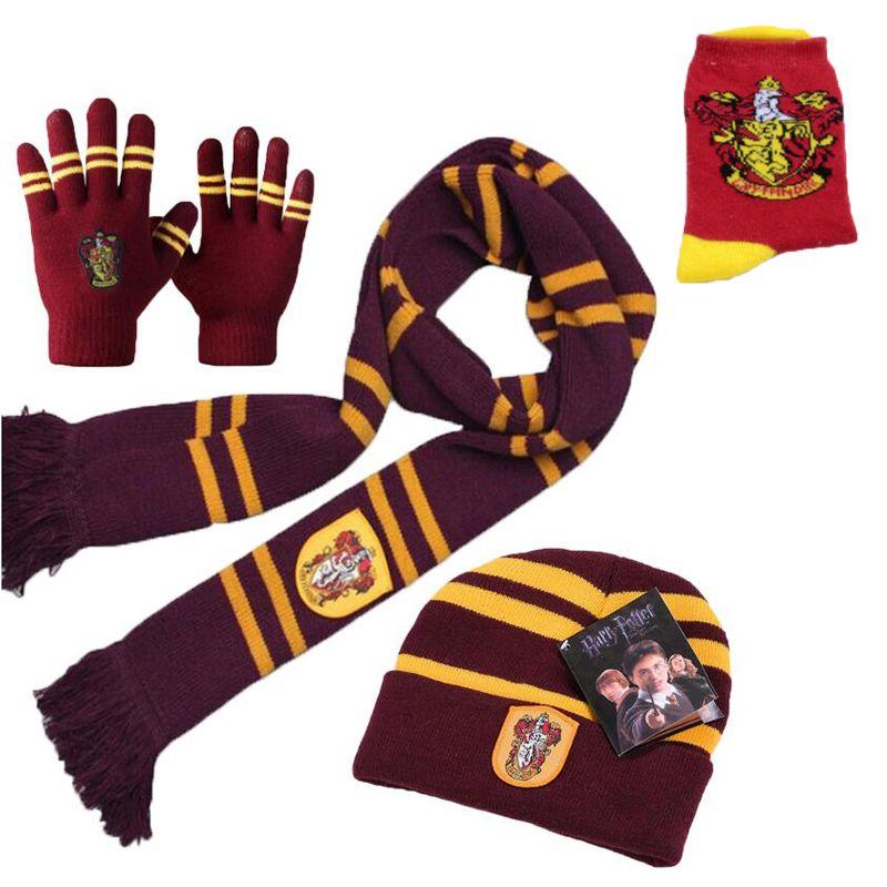 5495f5d423c 2018 New Harri Potter Scarf Gryffindor Scarf Cap/Hat NECKTIE Socks Soft  Warm Scarves Costumes Halloween Christmas gift C18112001