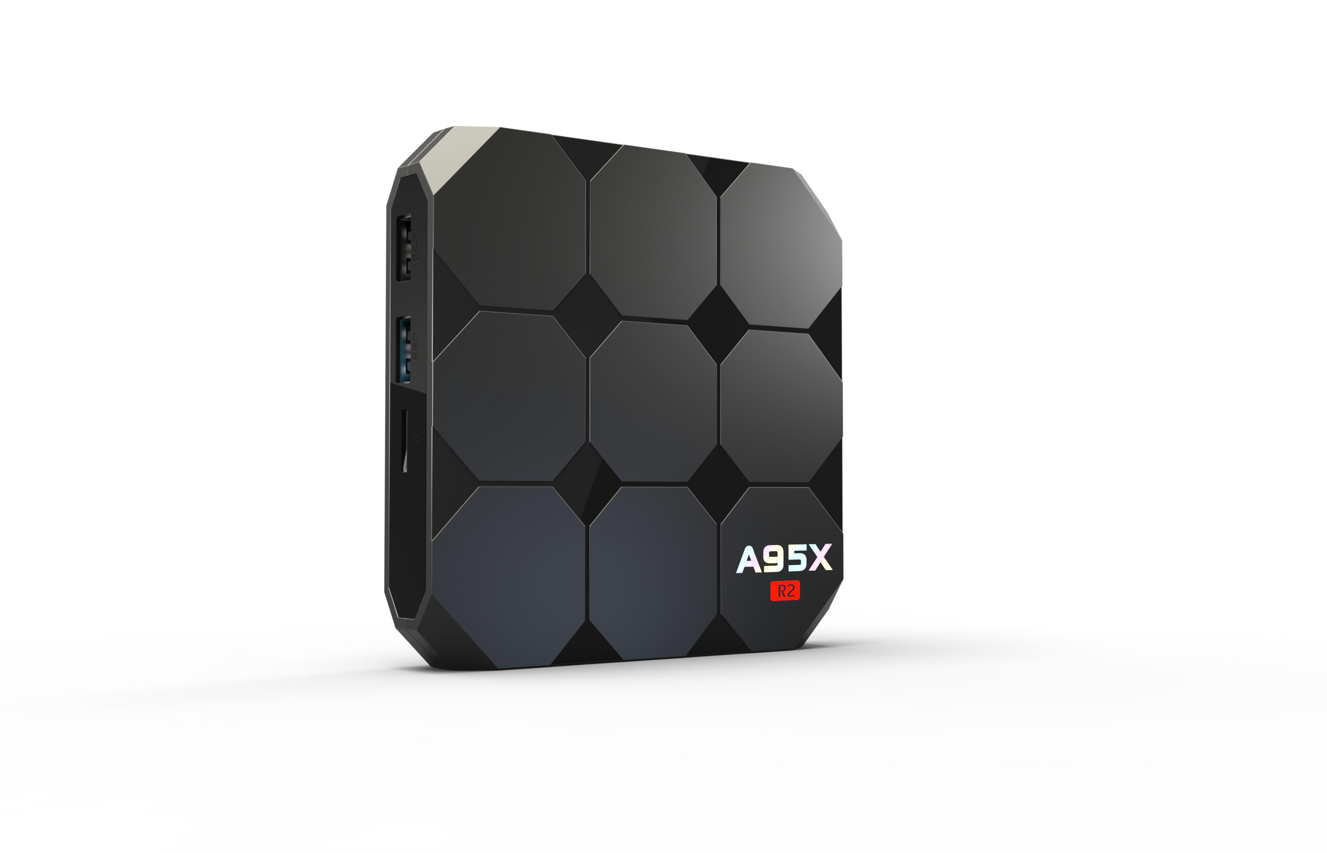 A95X R2 Android 7 1 Smart TV Box Amlogic S905W Wifi 2 GB RAM 16GB ROM Set  Top Box Andorid 7 Set-Top Box