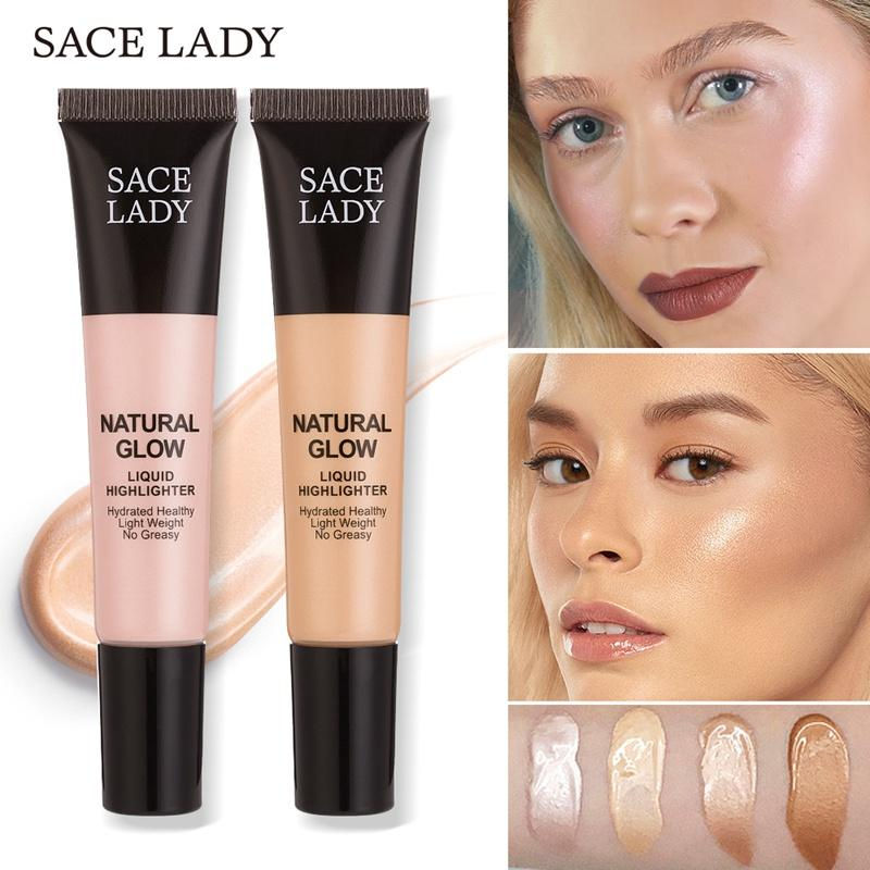 Sace Lady Face Glow Liquid Highlighter Shimmery Glow Shine Body Face