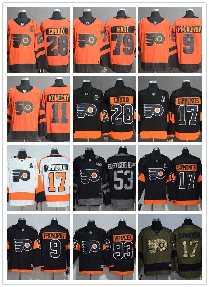 8d01b1dce63 2019 Philadelphia Jersey Flyers 28 Claude Giroux 79 Carter Hart 9 Ivan  Provorov 11 Travis Konecny 17 Wayne Simmonds 53 Shayne Gostisbehere From  Ww480481995, ...