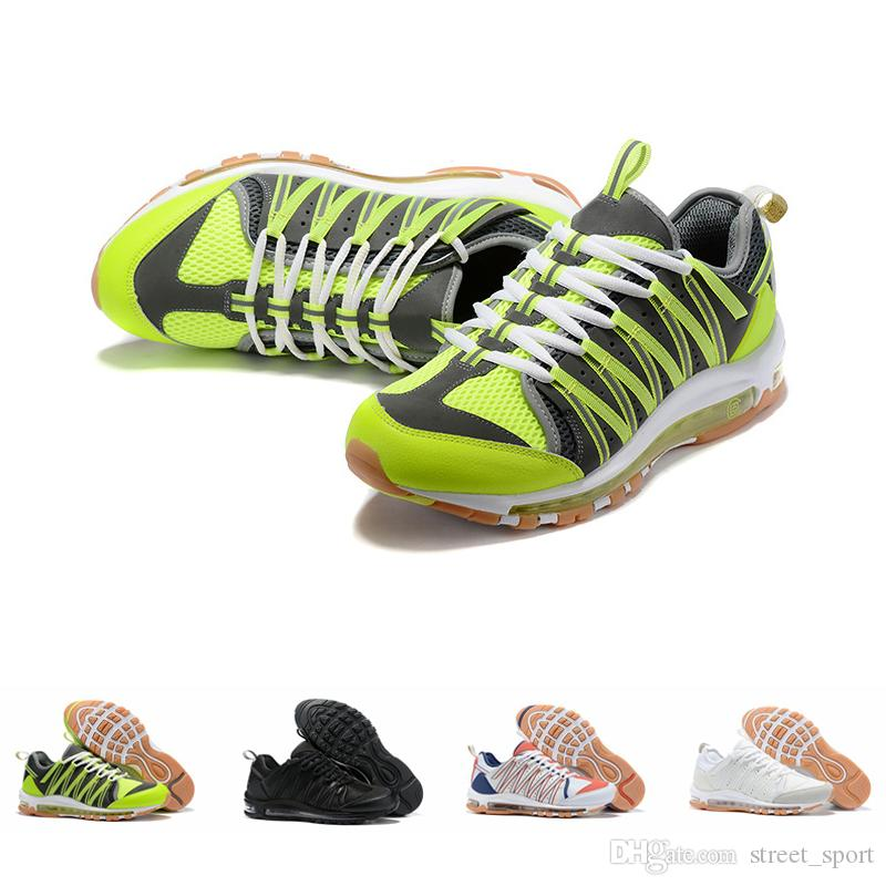 Clot x Nike air max 97 Haven diseñador de calzado masculino zapatos de deporte PRM triple blanco Negro verde 97,zapatillas de tampón,zapatillas de