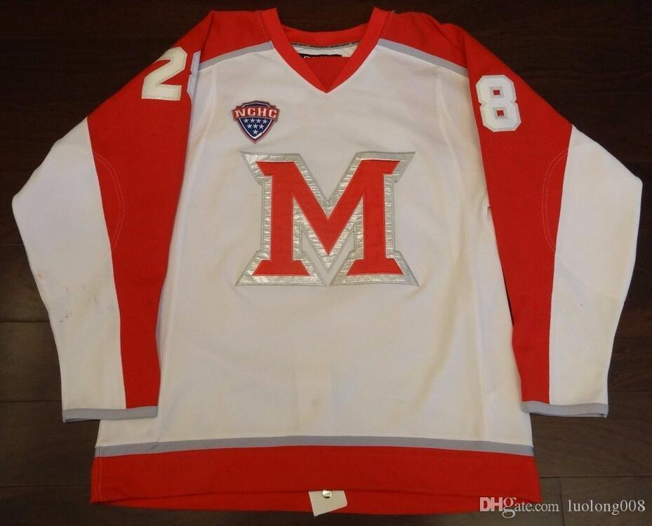 2019 Rare Vintage BEN PAULIDES UNIVERSITY OF MIAMI OH NCAA HOCKEY JERSEYS  Embroidery Stitched Customize Any Number And Name Jerseys From Luolong008 bde1ab8b4b8
