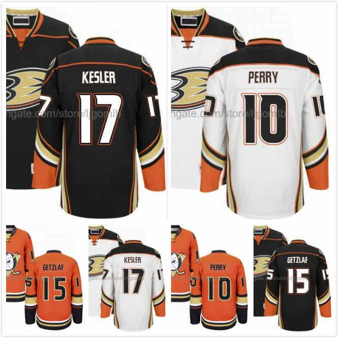 more photos 5e987 ff122 Ryan Getzlaf Jersey 15 Ryan Kesler Jersey 17 Corey Perry 10 Mens Ice Hockey  Jerseys Anaheim Ducks Black Orange White Full Stitched S-3XL