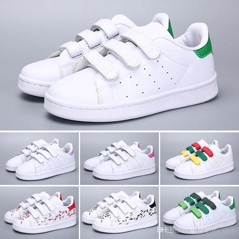ac284a9ab3958 Compre Adidas Superstar 2018 Nueva Marca Shell Head Boy Chicas Sneakers  Superstar Niños Zapatos Para Niños New Stan Shoes Fashion Smith Sneakers  Zapatillas ...
