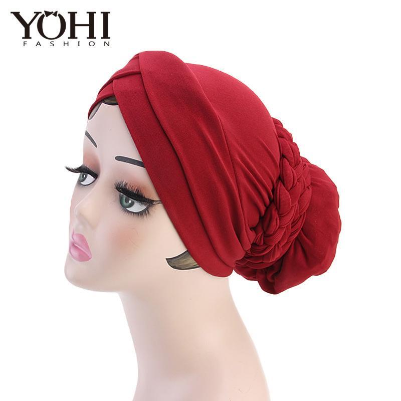 788a4c2eb23 2018 New Fashion Bohemian Twist Braid Headband Hat Hood Muslim Scarf Hats  Beanie Ladies Hair Accessories Women India Hat Online with  19.68 Piece on  ...