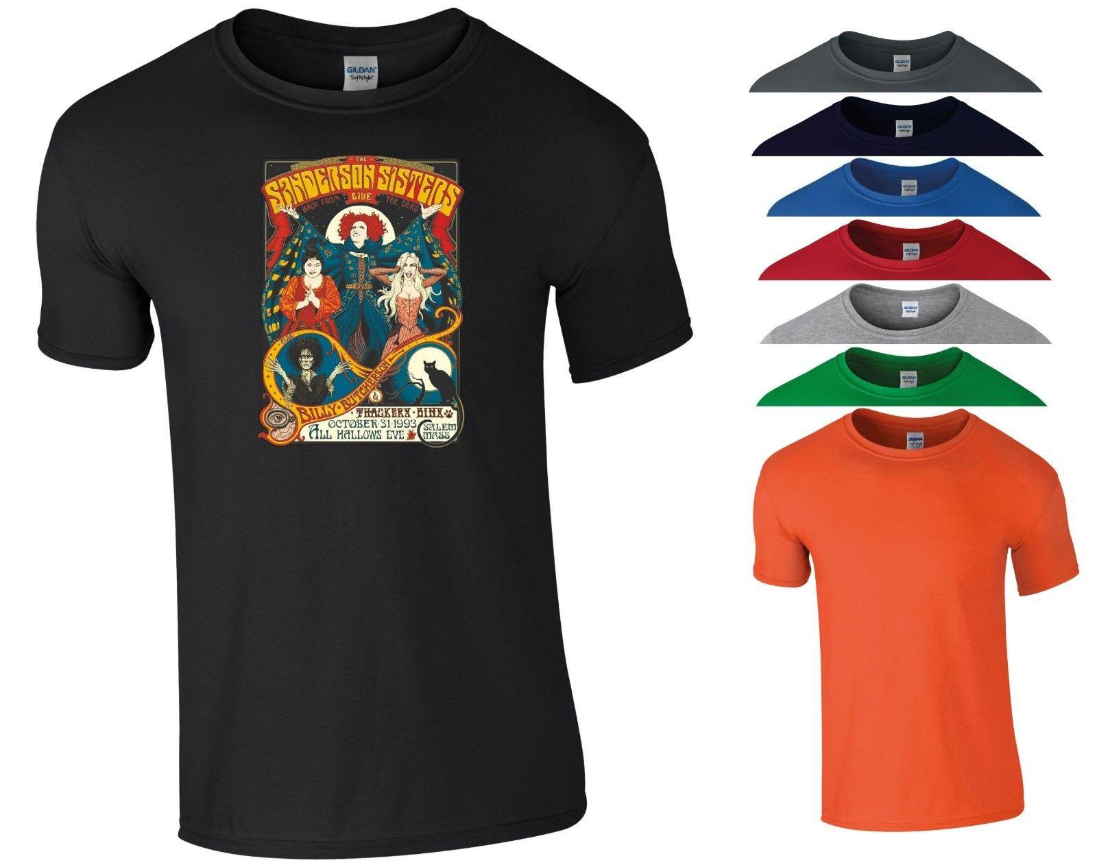 f84c8c64c Hocus Pocus Movie T Shirt Sanderson Sisters Horror Scary Funny Gift Men Tee  Top Funny Unisex Casual Tee Gift Design Your Own T Shirts Womens Shirt From  ...