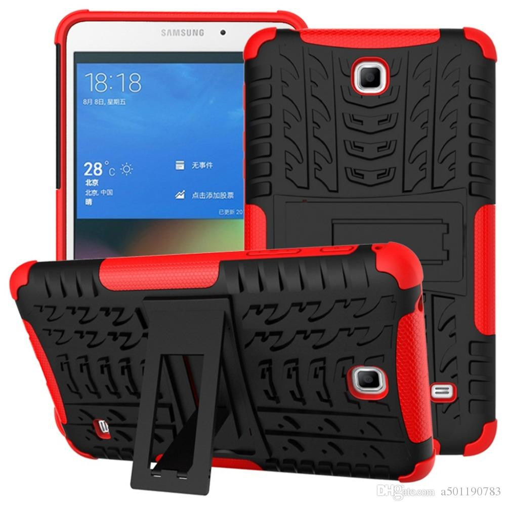 online store d07dd dd801 Heavy Duty Case For Samsung Galaxy Tab 4 7.0 SM T230 T231 T235 Rugged  Impact Hybrid Kickstand Protective Cover Stylus Pen Film