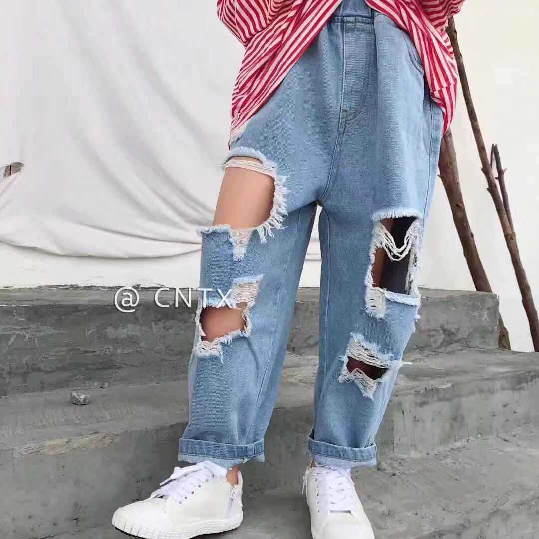 Children S Wear Children S Pants 2019 Spring New Girl S Jeans Trend