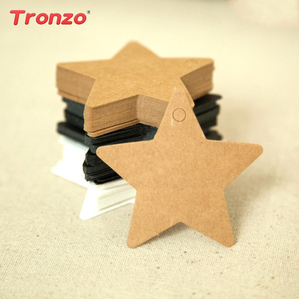 Tronzo DIY Gift Bag Tags Packaging Wedding Decorations Hanging Star Candy Box Paper Birthday Party Kids C18112701 Gold Wrapping Good