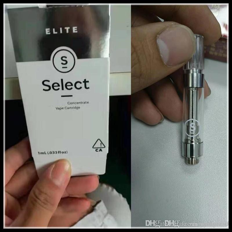Select Vape Cartridges Empty 510 Thread 0 8/1 0ml Gram M6T G5 Carts Elite  Vaporizer Pens 510 Thick Oil with 15 Flavors