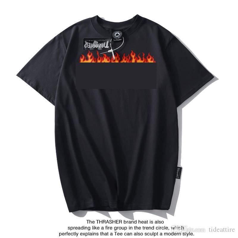 15 colors Street skater kid fashion boy girl summer t shirt flame Font Print cotton men womens designer t shirts New/label