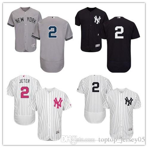 2019 2018 Can New York Yankees Jerseys  2 Derek Jeter Jerseys  Men WOMEN YOUTH Men S Baseball Jersey Majestic Stitched Professional  Sportswear From ... 62367cf8e7b