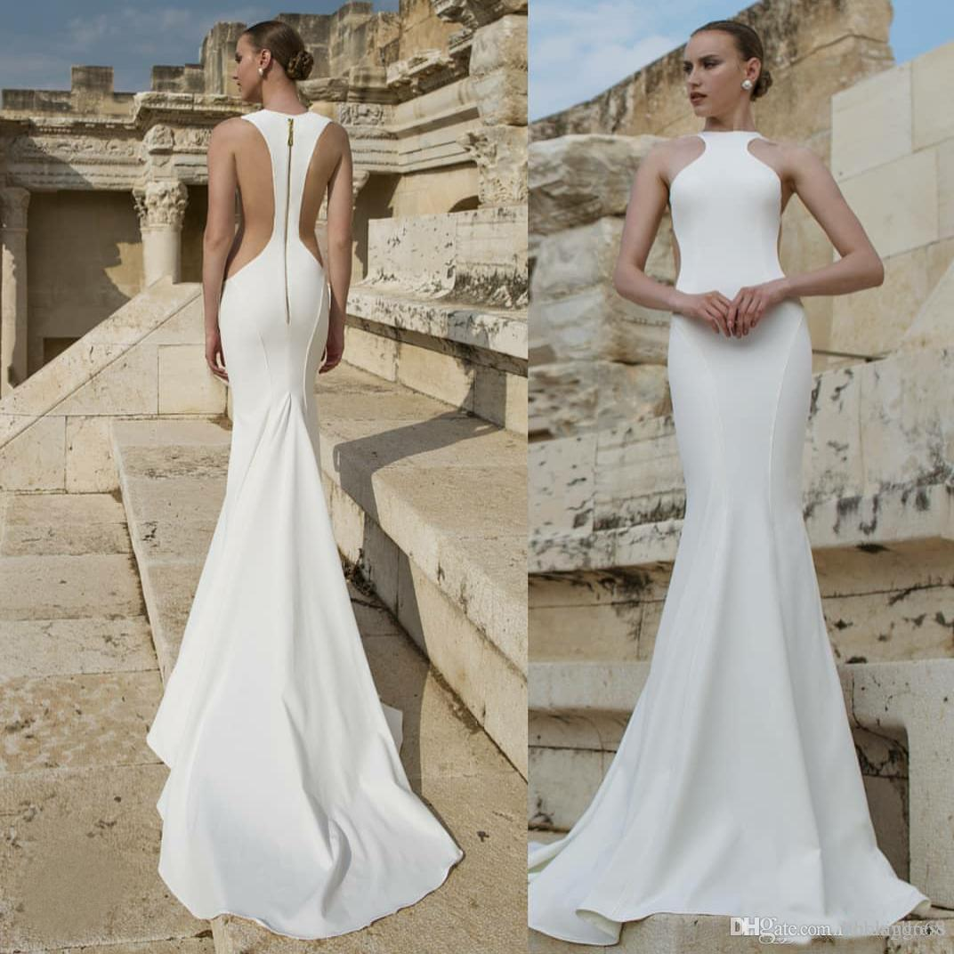 Vestidos de novia elegantes corte sirena