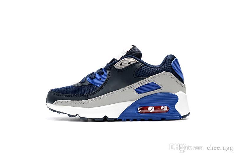 Nike air max 90 Tasarımcı Yeni Marka Çocuk Ayakkabıları Bebek Toddler 90 s Klasik 90 Çocuk Boy ve Gril Spor