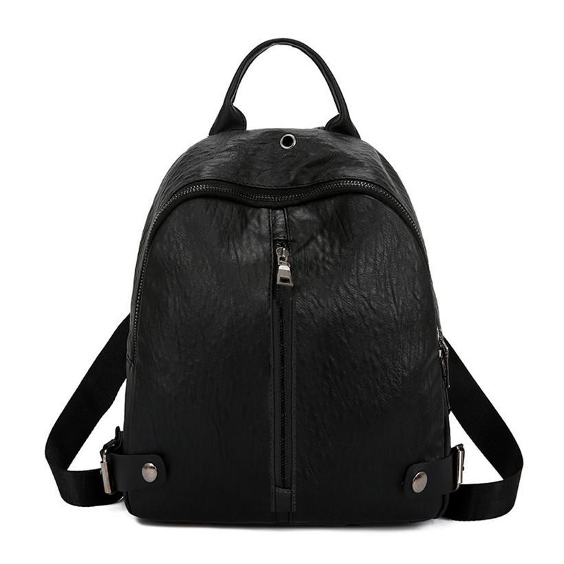 5544afc127 ... HTNBO Fashion Backpacks Woman 2018 Mini PU Leather Backpack Female  Solid Color Bookbag Gift Backbag Backpack ...