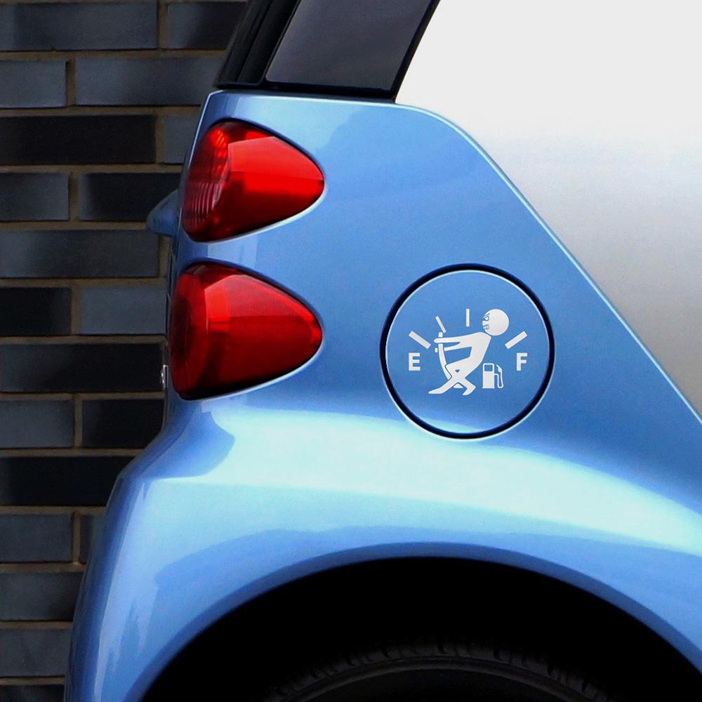 1 Stücke Lustige Auto Aufkleber Ziehen Kraftstofftank Zeiger Zu Hellaflush Reflektierende Vinyl Auto Aufkleber Aufkleber Großhandel