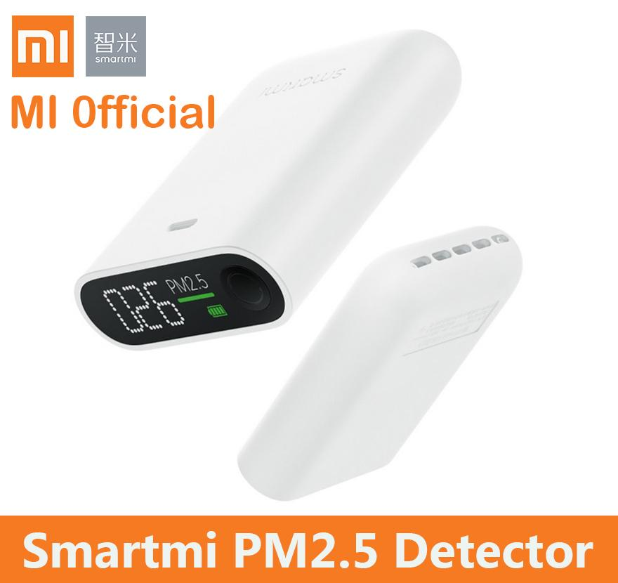xiaomi smartmi PM2 5 air detector portable PM 2 5 mini sensitive mijia Air  quality monitor for home office hotel mi LED screen