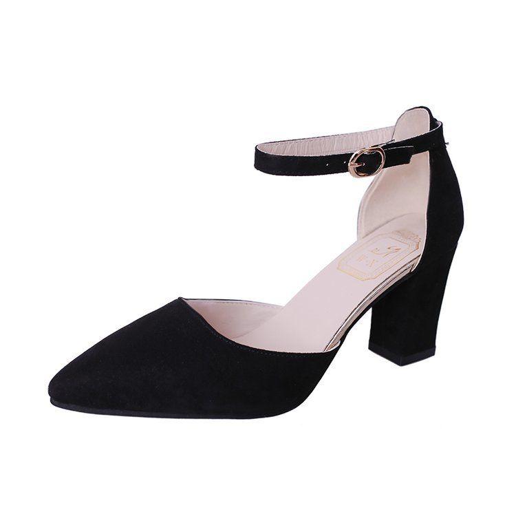 e7c62210e Compre 2019 Vestido Versión Coreana De Los Zapatos Puntiagudos Para Mujer  Moda De Verano Tacones Altos Versión Coreana De Los Zapatos De Trabajo  Casual ...