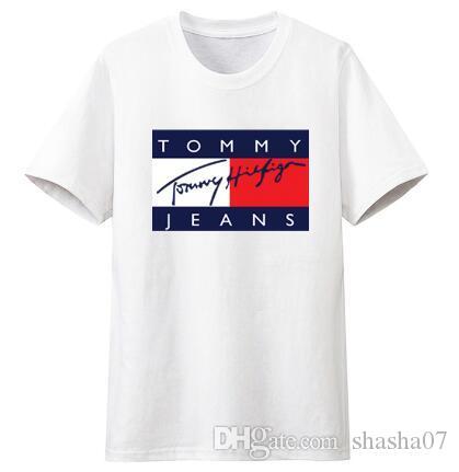 2b864047c9616e 2019Men Clothing Summer Mens T Shirts KITH Fashion Letters Printed Tee Cool  Short Sleeved Crew Neck Tees Man Women White Black Tops Comedy T Shirt  Humorous ...