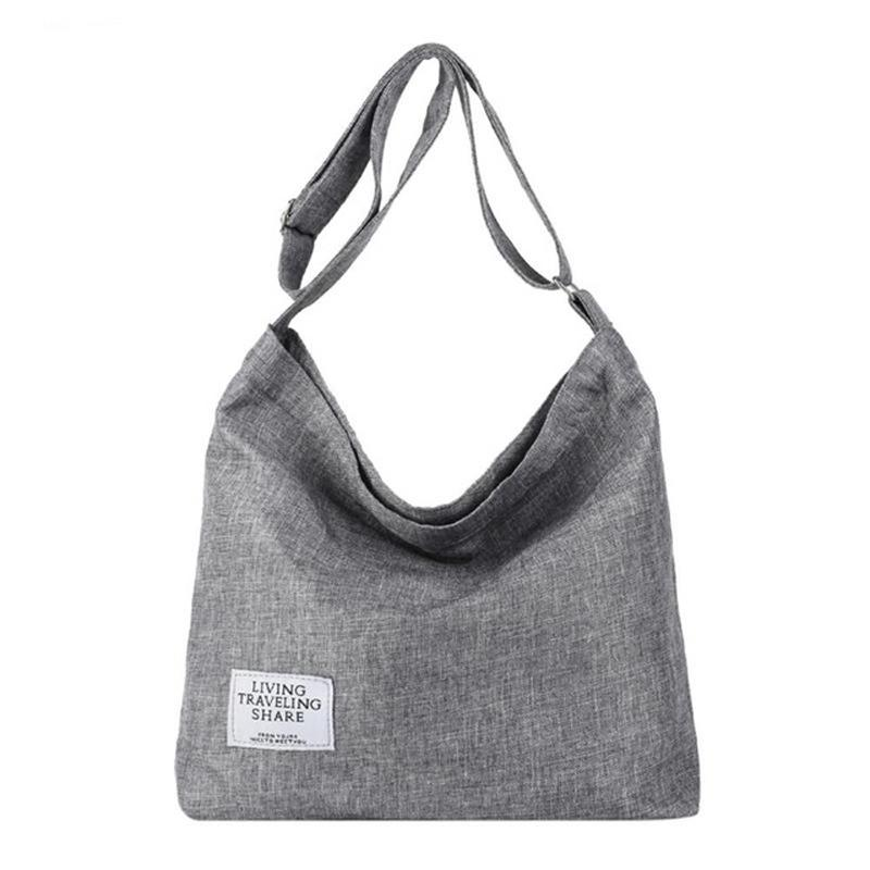 a421c260b542 Fashion Canvas Shoulder Bags Women Girls Totes Large Capacity Casual  Messenger Bags Handbags Crossbody Bag For Women D67 Black Handbags Weekend  Bags From ...