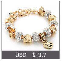 Longway de lujo de cristal del corazón pulseras del encanto brazaletes de color oro para las mujeres joyería Femme Pulseras Mujer Sbr160056