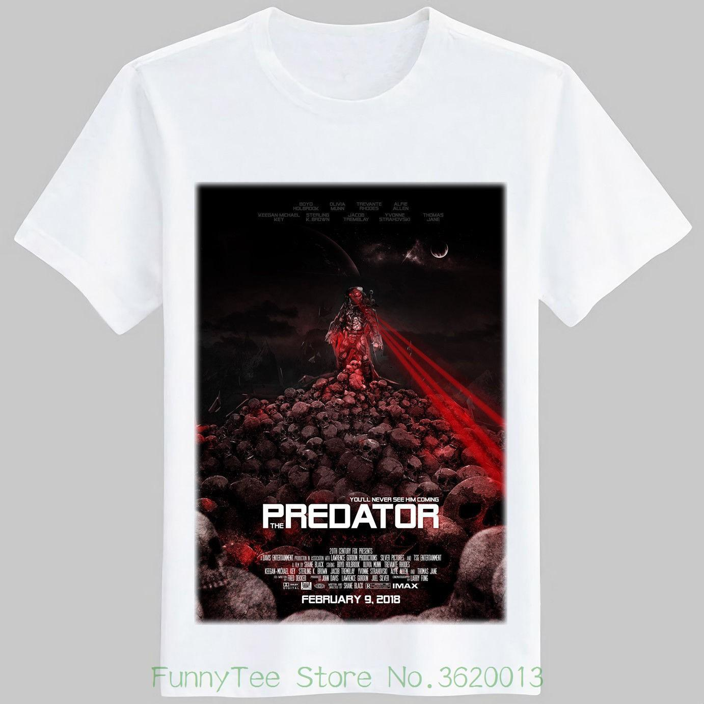 f80f3aa93 The Predator Movie 2018 Poster T Shirt S M L Xl 2xl Order Tee Shirts T Shirt  With Design From Jie027, $14.67| DHgate.Com