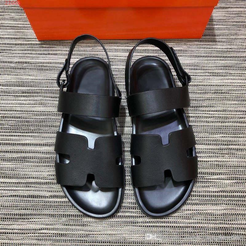 Sandales Classiques HommesChaussures De NoirPlage 45Vente Chaude Pour Plates ResortTailles Style 38 En yfgY76vIbm