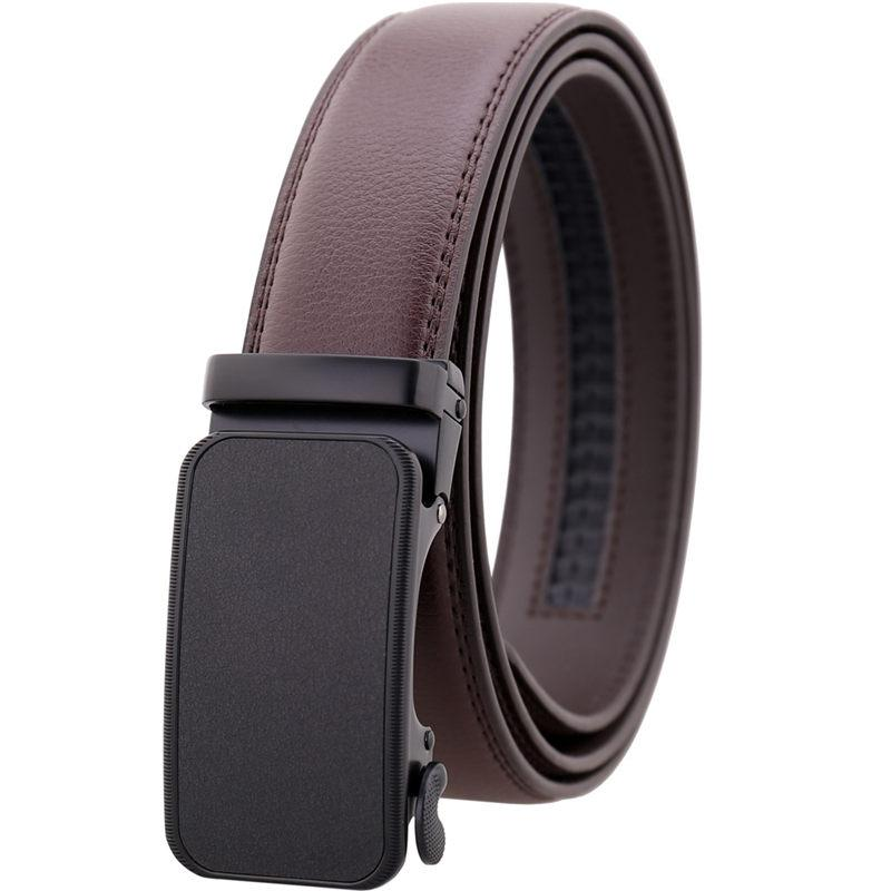 Luxury Genuine Leather Business Belts Fashion Cowskin Waistbands Automatic Buckle Waist Straps Men Women Luxury Casual Belts 110-130cm