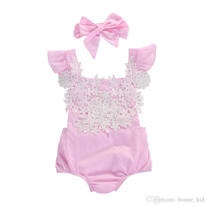 Baby Girl Summer Romper Playsuit Holiday outfit All in One Pink NB 0-18 M