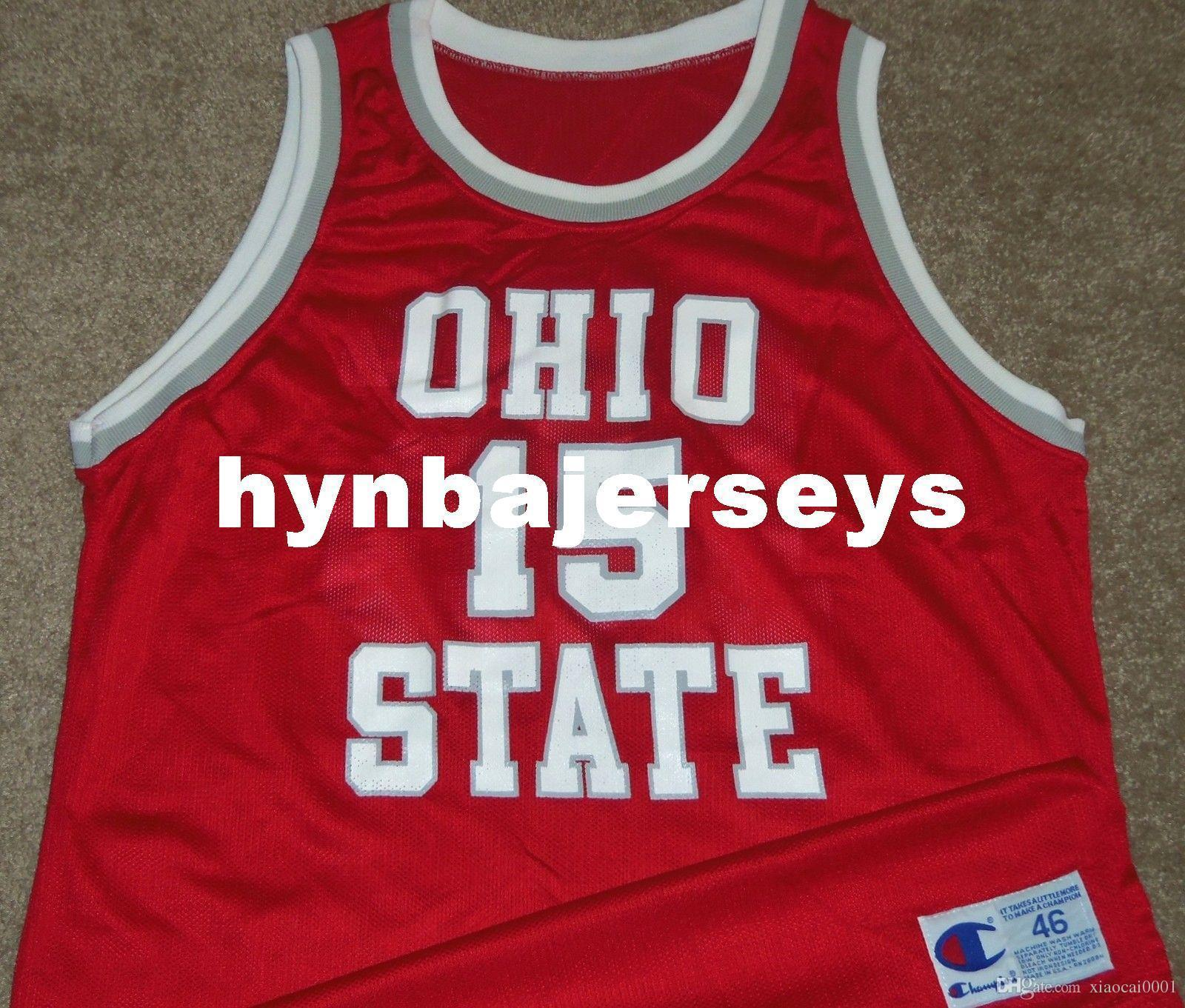 new product 668b5 cfd0d VTG Top 90 s JAMIE SKELTON #15 OHIO STATE BUCKEYES CHAMPION JERSEY 46 RARE!  Mens Vest Top Size XS-6XL Stitched basketball Jerseys